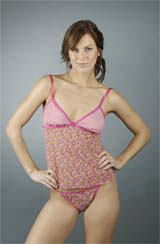Zinnia Camisole & Thong set ~ Pink Lemonade